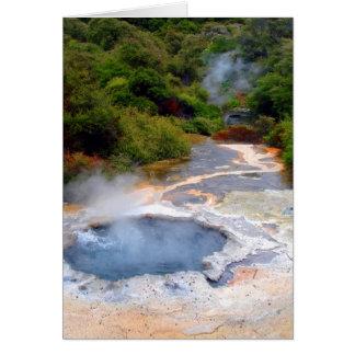 Geothermal Activity near Rotorua, New Zealand Card