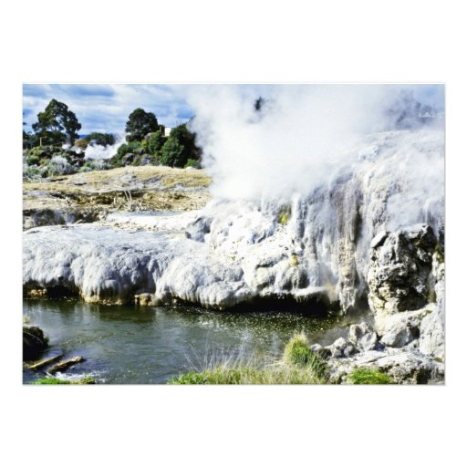 Geothermal Activity, Rotorua, North Island Personalized Invitations