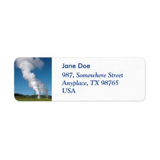 Geothermal instalations label