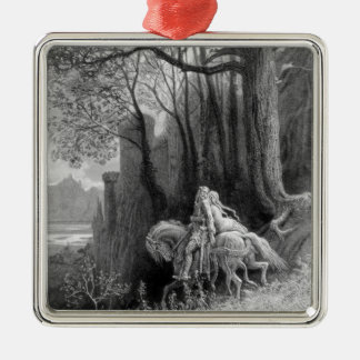 Geraint and Enid Ride Away Metal Ornament