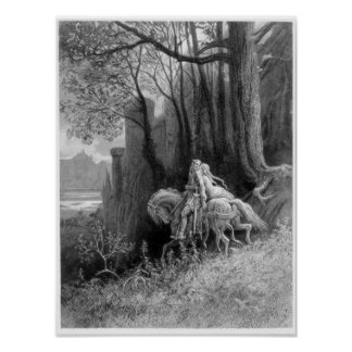 Geraint and Enid Ride Away Print