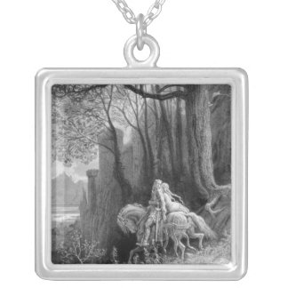 Geraint and Enid Ride Away Silver Plated Necklace