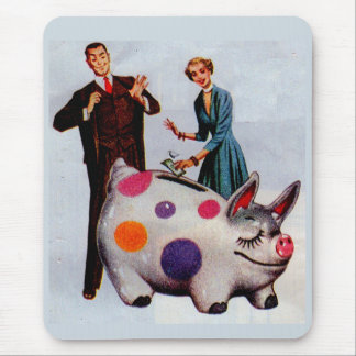 Gerald and Louise feed the pig Mouse Pad