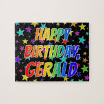 "[ Thumbnail: ""Gerald"" First Name, Fun ""Happy Birthday"" Jigsaw Puzzle ]"