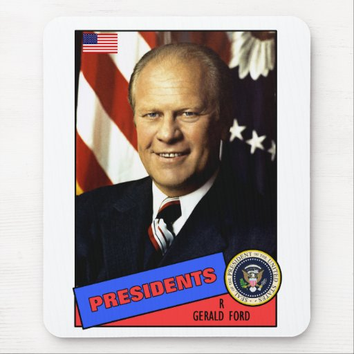 Gerald Ford Baseball Card Mouse Pads