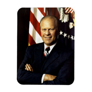 Gerald Ford Rectangular Photo Magnet