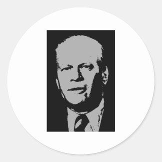 Gerald Ford Round Sticker