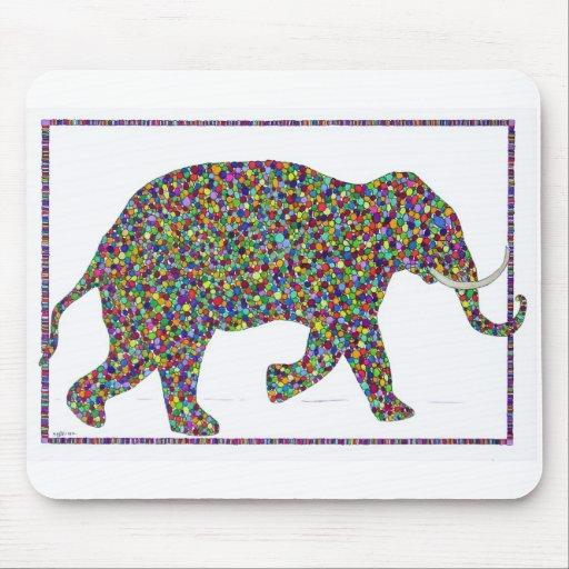 Gerald Glass Dot Running Elephant Mousepad