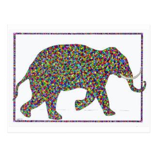 Gerald Glass Dot Running Elephant Post Card