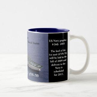 GERALD R FORD CVN-78 COFFEE MUGS