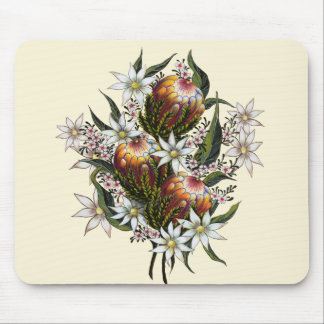 Geraldton Wax, Flannel Flowers, Banksia Mouse Pad