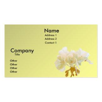 Geranio amarillo tarjetas de visita