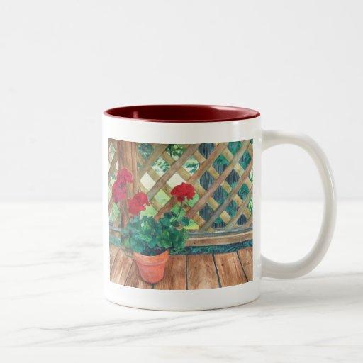 Geranio (jardinero) taza de dos tonos