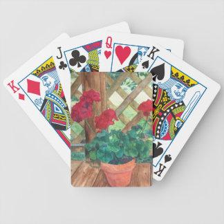 Geranio rojo baraja de cartas