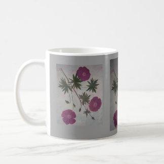 Geranios del escarlata taza de café