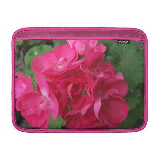 Geranios rosados funda macbook air