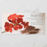 """Geranium 2 Sympathy Thank You matching stamp<br><div class=""""desc"""">Floral photograph of Geranium. Simple, modern and elegant. Customizable Sympathy Thank You photo Card. You can easily change text color, font, size and position by clicking the personalize and customize button. Matching Geranium Sympathy thank you note card, sympathy thank you postage and label, Celebration of Life Invitation and memorial Guest...</div>"""