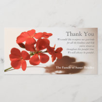 Geranium 2 Sympathy Thank You matching stamp