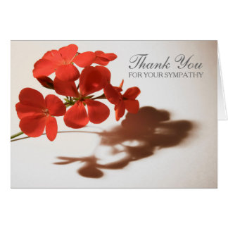Geranium 3 Sympathy Thank You Note Card