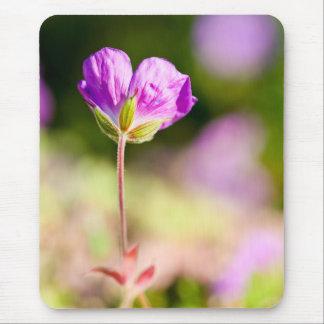 geranium and sun mouse pad