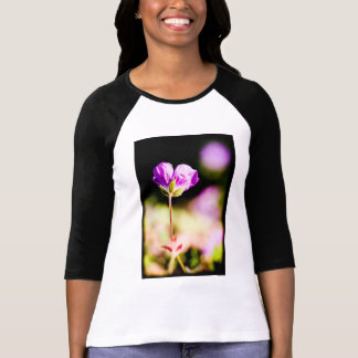 geranium and sun on black T-Shirt