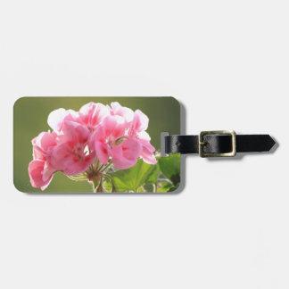 geranium bag tag