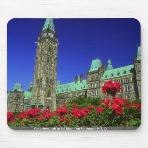 Geranium beds in full bloom on Parliament Hill, Ot Mouse Pads