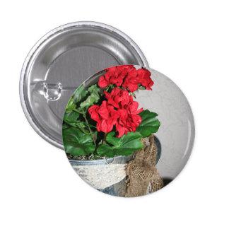 Geranium Bouquet Button