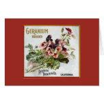 Geranium Brand Fruit Crate Label Card