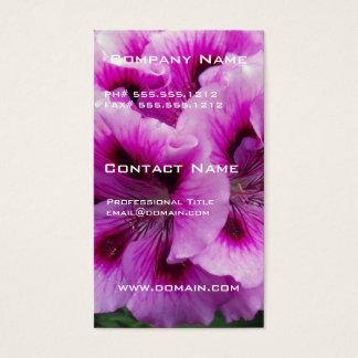 Geranium Care Business Card