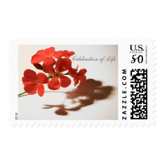 Geranium Celebration of Life Funeral Postage