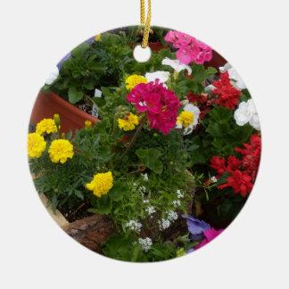 Geranium Floral Symphony Ceramic Ornament