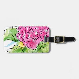 Geranium Flower Bag Tag