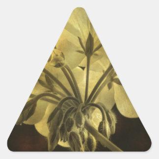 Geranium Flower Texture Triangle Sticker