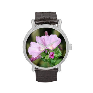Geranium Flowers Wristwatch