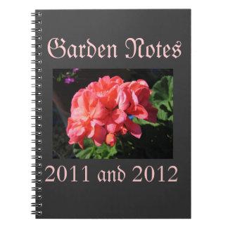 Geranium Garden Notebook