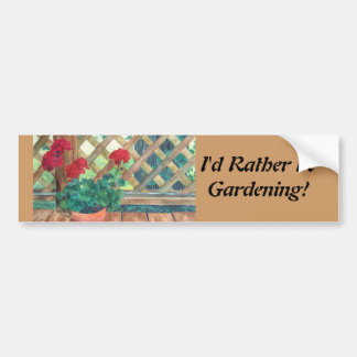 Geranium (Gardener's) Car Bumper Sticker