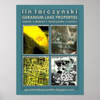 Geranium Lake Properties, Green 4-Spot Poster