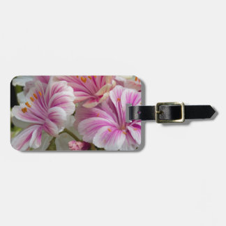 geranium luggage tag