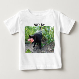 Geranium&Peek-a-boo Cat Baby T-Shirt