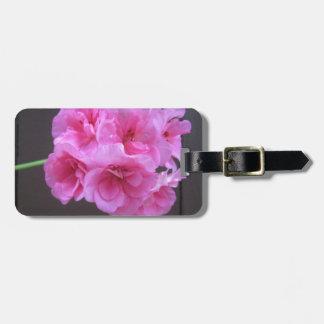 Geranium Pink Bag Tag