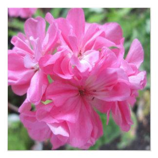 Geranium Pink Floral Card