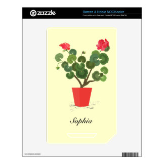 Geranium Plant Barnes and Noble Nook Color Skin