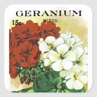 Geranium Seed Packet Label