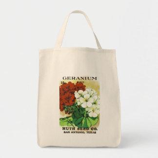 Geranium Seed Packet Label Tote Bag