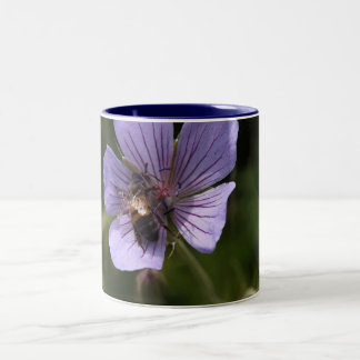 Geranium with Bee Two-Tone Coffee Mug