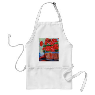 Geraniums Adult Apron