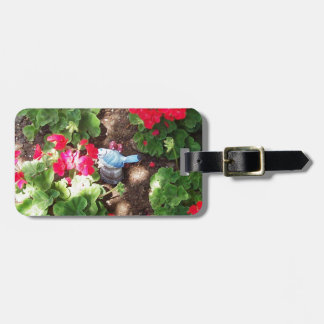 Geraniums and Bird Luggage Tag