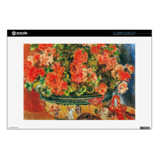 """Geraniums and cats by Pierre Renoir Skin For 13"""" Laptop"""