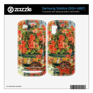 Geraniums and cats by Pierre Renoir Samsung Solstice Decal